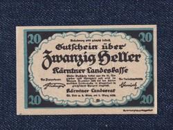 Ausztria Karintia 20 heller szükségpénz 1920 (id51700)