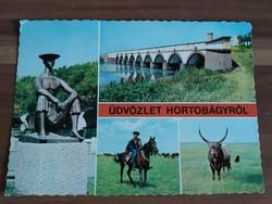 Hortobágy, mozaik képeslap