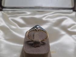 Antik arany brilles buton gyűrű