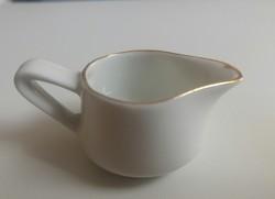 Mini Hollóházi porcelán tej kiöntő kancsó 2,5 cm magas