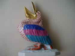 Herendi pikkelyes porcelán pelikán