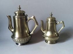Argentor szecessziós/jugendstil aranyozott teás és kávéskanna, 1905 Bécs