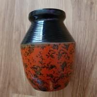 Retro Tófej iparművész kerámia váza