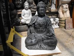 Ritka Gyógyító Thai földi Kő Buddha Bronz os 66cm Feng shui  Fagyálló műkő szobor
