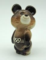 B716 Misa mackó porcelán - Moszkvai olimpia kabalafigura  - szép, gyűjtői darab