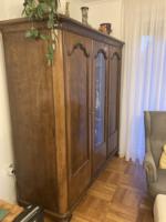 Diófa irodai szekrény, a 20.század elejéről