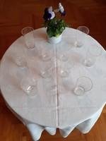Francia (Baccarat?) kristály sörös poharak a 20. század elejéról