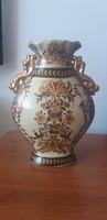 Kínai porcelán váza, színes mintázattal festve – antik hatású - 20 cm
