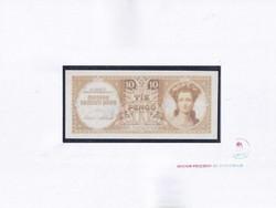 Magyar Pénzjegy- és Éremtár U.P. bankjegy másolat 10 Pengő 1943 (id51749)