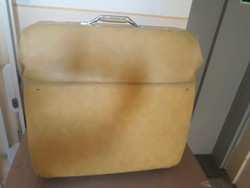 Midcentury-american tourister hanging women's suit carrying suitcase / old women's suitcase