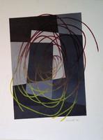 Festmény, Gyarmathy Tihamér, Kompozíció, 1982
