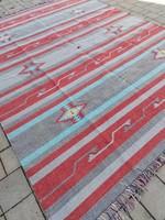 Hibátlan Indiai kilim kézi szövésű új szőnyeg.   304x244cm.Alkudható!!!
