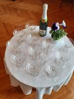 Francia (Baccarat?) kristály pezsgős poharak a 20. század elejéról