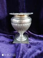 Antik ezüst 800-as(agárfejes) Bachruch A. aranyozott belsős kehely