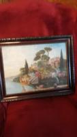 Régo olaj festmény  Gusztáv  szignoval