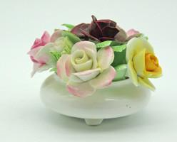 B711 Royal Doulton angol porcelán rózsás virágtartó