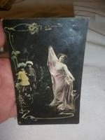 Szecessziós századeleji képeslap 1909