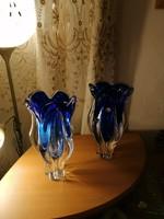 Bohémia vastag kék üveg vázák