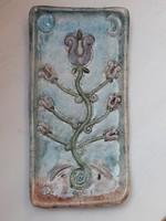 Pünkösti Gabriella keramikus művész  raku kerámia falikép lakásdekoráció