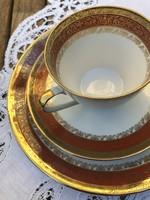 Bavaria Neuerer Qualitat teás reggeliző szett, új, vastagon aranyozott