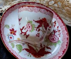 Sarreguemines Minton porcelánfajansz mokkás kávés csésze csészealjjal