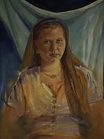 Mattioni Eszter (1902-1993) : Lányportré