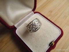 Áttört mintás ezüst gyűrű - új ékszer