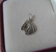 Ló - lovas ezüst medál - új ékszer