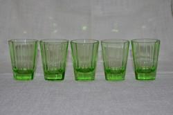 Csoda szép régi uránzöld poharak