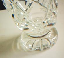 Talpas kristályváza súlyos fényes váza