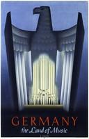 Art deco plakát reprint nyomat Németország birodalmi sas komolyzene opera orgona jelkép 1930