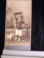""""""" SZEMÜNKFÉNYE """" KEMÉNYHÁTU FOTÓ FÉNYKÉP FOTOGRÁFIA KÉP KISFIÚ FIÚ 1910 PÁPA"""