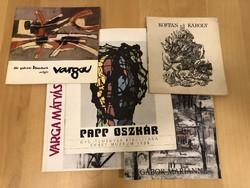 Kiállítási katalógusok (dedikált)