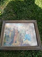 Jézus-Mária nyomat.Ritka!.