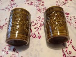 Két darab nagyon szép nőnapi gránit pohár