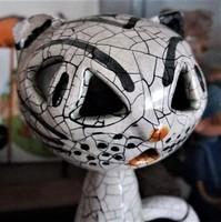 Gorka livia pottery, sculpture kitten, cat