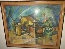 Kiárusítás!1 Ft! Dömötör Gizella (1894-1984) - Kubista csendélet , 1920-as évek