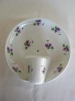 Drasche Kőbányai porcelán ibolyás fali lámpa
