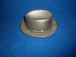 Régi reklám fém kalap  hamutál deli pál kalapgyára