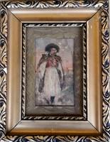 Ismeretlen festőművész – Juhász című festménye – 195.