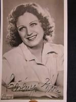SÁRDY JÁNOS OPERA ÉNEKES BONVIVÁN ALÁÍRT DEDIKÁLT FOTÓLAP KATONA EGYENRUHA FOTÓ cca. 1944