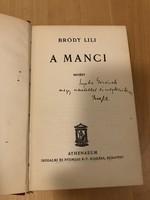 Bródy Lili: A Manci (dedikált)