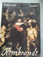 Nagyméretű Rembrandt album  Posteerbok Taschen 31 x 44 cm, 1991