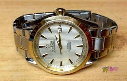Omega Seamaster CO-Axial Chronometer Swiss Design automata fémcsatos karóra, újszerű állapotban.