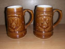 Német kerámia söröskorsó párban 8 dl-es Frankfurt (K)