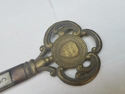 Régi Ganz Mávagos kulcs formájú hőmérő rézből