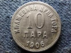 Montenegró I. Miklós (1860-1918) 10 para 1906 (id52289)