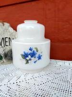 Gyönyörű Régi virágos ibolyás  lámpabúra nosztalgia, paraszti dekoráció