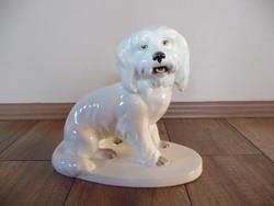Antik Royal Dux nagy méretű kutya