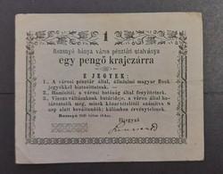 Rozsnyó 1 pengő krajcárra 1849, Vf.